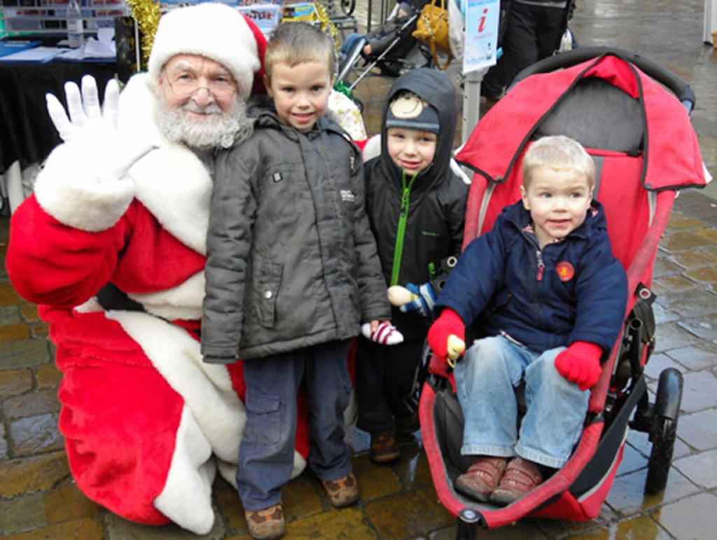 Joshua and Adam Brown, Matthew Bagley and Santa. Lichfield won the coveted Coach Friendly City award in February 2010
