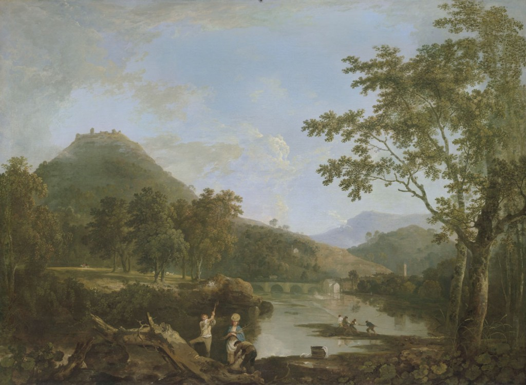 Richard Wilson, Dinas Bran from Llangollen, 1770–71, oil on canvas, Yale Center for British Art, Paul Mellon Collection