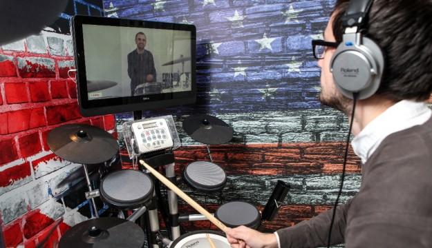 Drum lesson with Ringo Starr