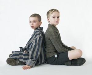 Photo of Shmuel (Colby Mulgrew) and Bruno (Finlay Wright-Stephens) by Shaun Webb