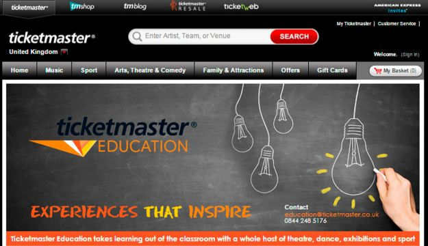 Ticketmaster UK announces the launch of Ticketmaster education