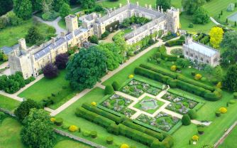 Aerial view of Sudeley Castle & Gardens