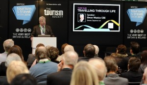 Simon Weston speaking at show