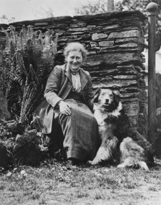 Beatrix Potter with sheepdog Kep