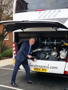 Steve Luckett with National Express Golden Spanner