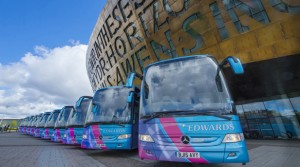 Edwards Coaches Partner with Wales Millennium Centre for a Second Year