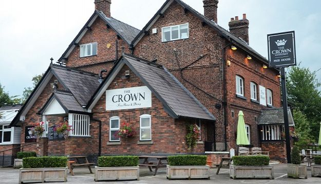 Experience the charm of Cheshire with a meal at The Crown, Goostrey