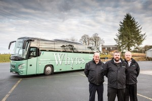 L to R – David Campbell, Andrew Urquhart and Jason Carrison are the driving force behind Whytes re-entering the tours market.