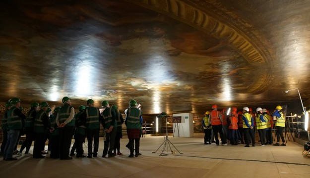 A CLOSE-UP VIEW OF GREENWICH'S MAGNIFICENT PAINTED HALL – BRITAIN'S SISTINE CHAPEL