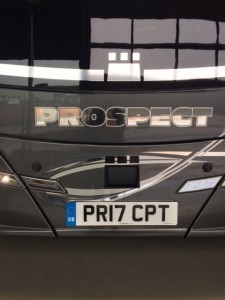 Prospect Coaches Number plate 3
