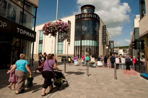 Debenhams store - Carmarthen town centre redevelopment, Wales UK