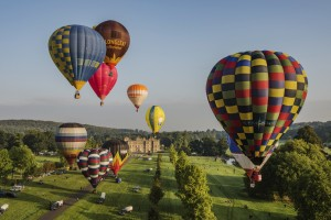 Sky Safari balloons over Longleat