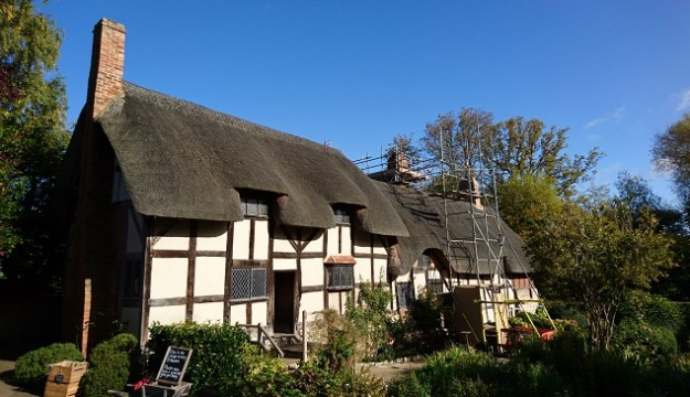 Chimney Conservation Works at Anne Hathaway's Cottage
