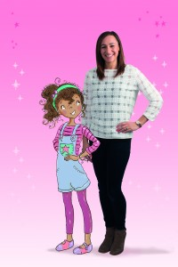 Jessica Ennis-Hill - image with character Evie from her book