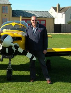 Ian Sheeley with an aircraft, pic supplied by TSA Consulting