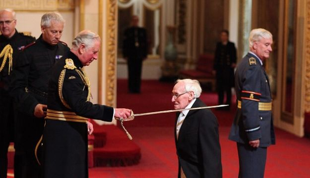 WILLIAM WRIGHT RECEIVES KNIGHTHOOD AT BUCKINGHAM PALACE