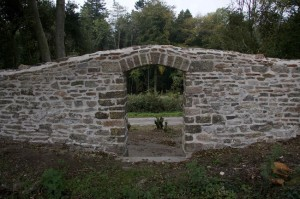 Tyntesfield boundary wall archway after restoration © National Trust / Tony Laverton