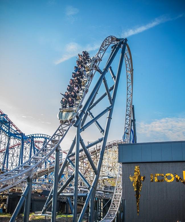 ICON Blackpool Pleasure Beach's Newest Rollercoaster