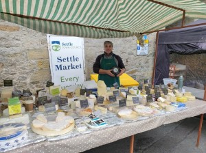 Settle Marke t cheese stall